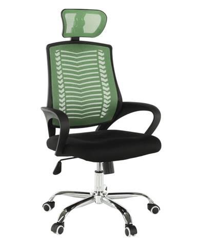 Imela Typ 1 kancelárske kreslo s podrúčkami zelená