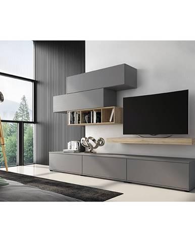 Korfu obývacia stena sivá