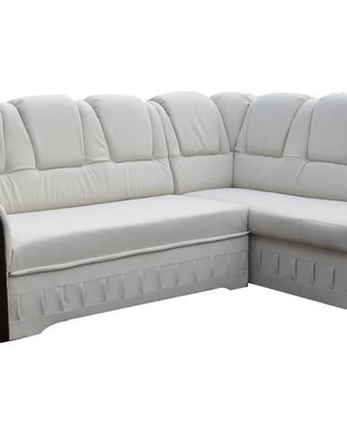 Latino P rohová sedačka s rozkladom a úložným priestorom biela