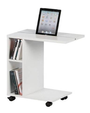Niden príručný stolík na kolieskach biela