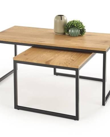 Sabrosa konferenčný stolík (2 ks) dub zlatý