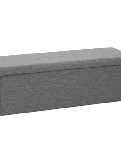 Umina taburetka s úložným priestorom sivá