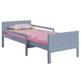 Eunika jednolôžková posteľ s nastaviteľnou dĺžkou sivá