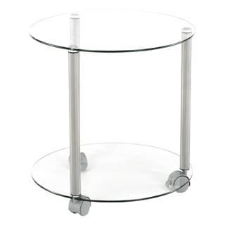 Talan príručný stolík na kolieskach sivá