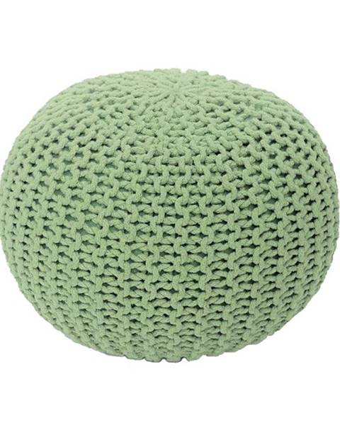 Kondela Gobi Typ 1 pletená taburetka svetlozelená