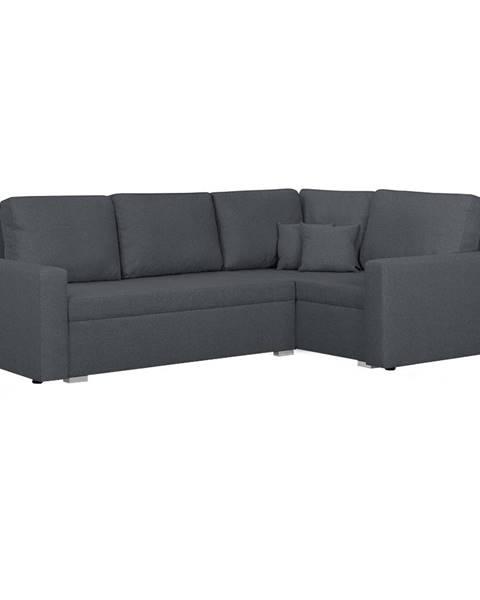 Tempo Kondela Milor P rohová sedačka s rozkladom a úložným priestorom sivá