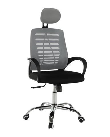 Elmas kancelárske kreslo s podrúčkami sivá