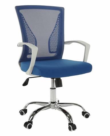 Izolda kancelárske kreslo s podrúčkami modrá