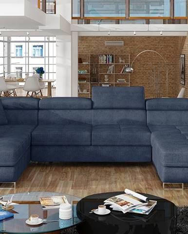 Rossano U L rohová sedačka u s rozkladom modrá (Omega 86)
