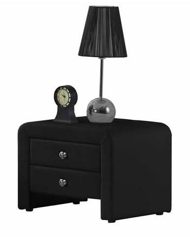 Wilson čalúnený nočný stolík čierna