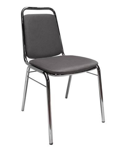 Zeki konferenčná stolička sivá