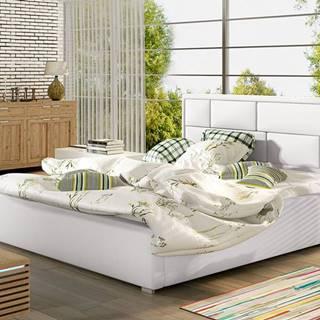 Liza UP 140 čalúnená manželská posteľ s roštom biela