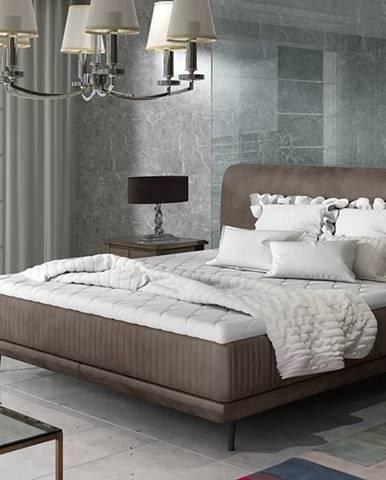 Ancona 160 čalúnená manželská posteľ hnedá