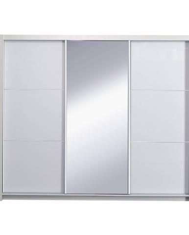 Asiena šatníková skriňa 258x213 cm biela