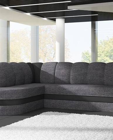 Belluno L rohová sedačka s rozkladom a úložným priestorom sivá (Sawana 05)