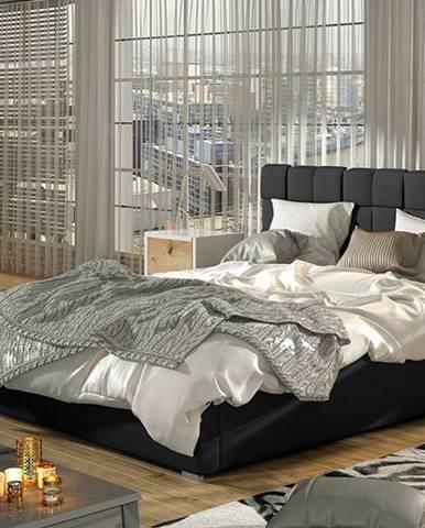 Galimo 200 čalúnená manželská posteľ s roštom čierna