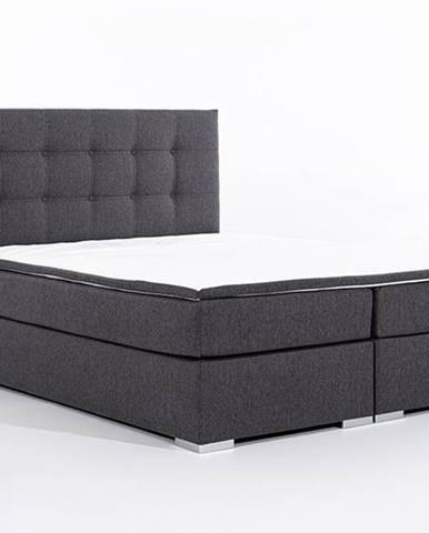 Isola 180 čalúnená manželská posteľ sivá