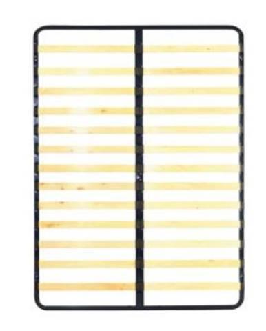 Kovový rošt 7866 lamelový rošt 160x200 cm drevo