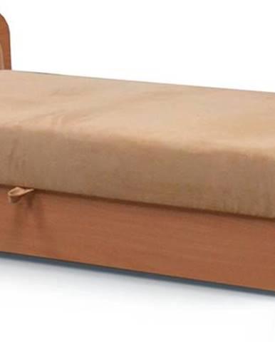 Pinerolo 80 L jednolôžková posteľ s úložným priestorom svetlohnedá