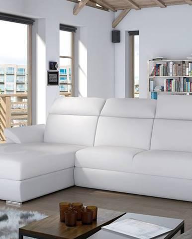 Tarragon L rohová sedačka s rozkladom a úložným priestorom biela