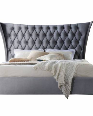 Alesia 180 manželská posteľ 180x200 cm sivá
