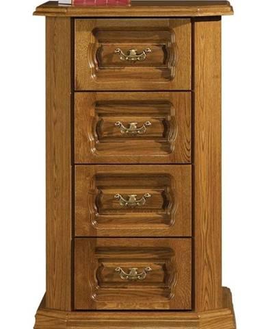 Kinga 4S rustikálna zásuvková komoda drevo D3