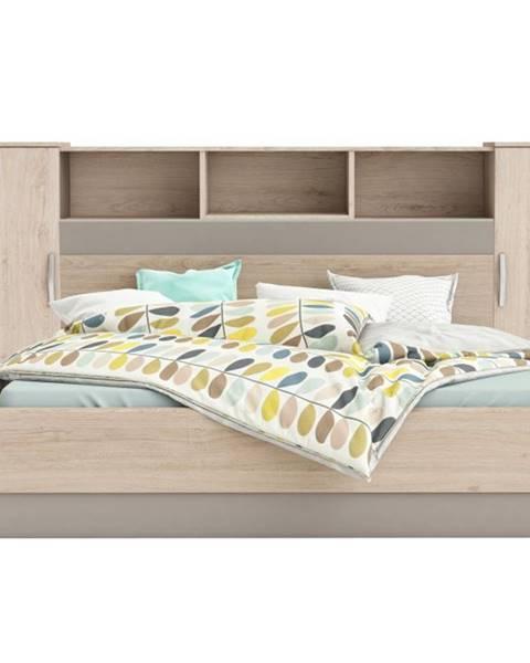 Tempo Kondela Graphic Typ 4 panel k posteli so skrinkami dub arizona