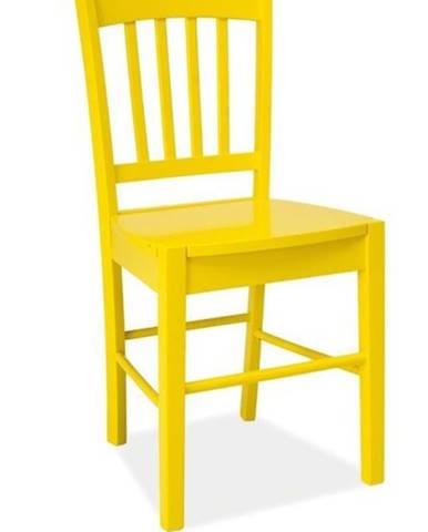 CD-57 jedálenská stolička žltá