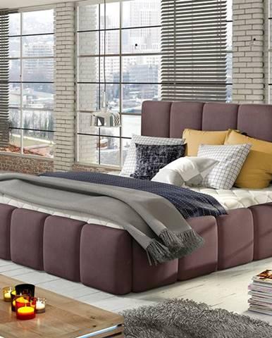 Evora 160 čalúnená manželská posteľ fialová