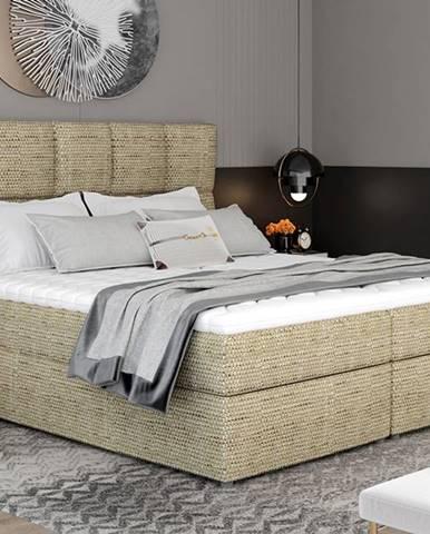 Grosio 165 čalúnená manželská posteľ s úložným priestorom cappuccino