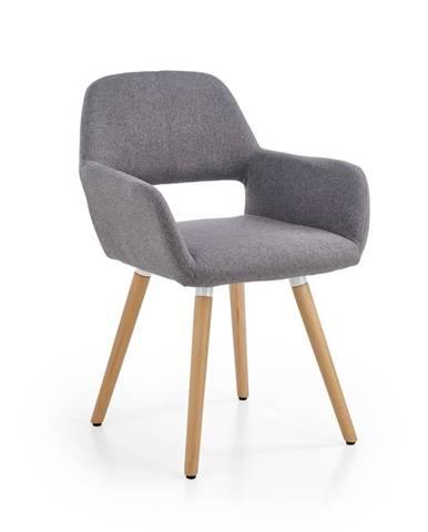 K283 jedálenská stolička sivá