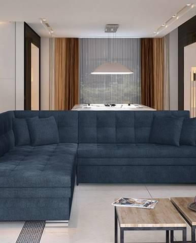 Pescara L rohová sedačka s rozkladom modrá (Omega 86)