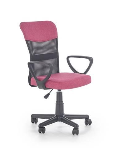 Timmy kancelárska stolička s podrúčkami ružová