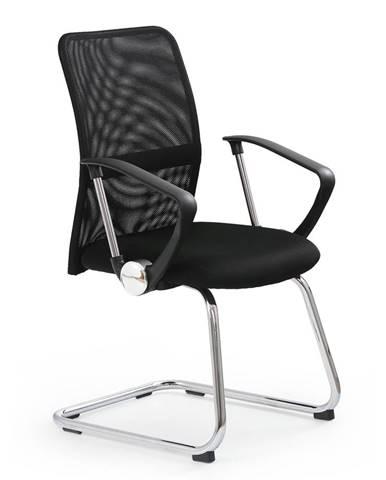 Vire Skid kancelárska stolička s podrúčkami čierna