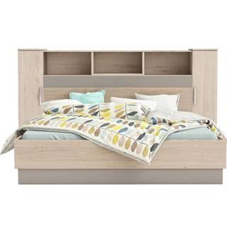 Graphic Typ 4 panel k posteli so skrinkami dub arizona