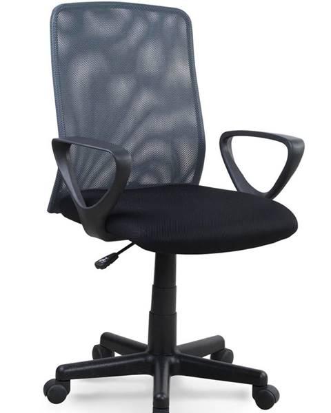 Halmar Alex kancelárska stolička s podrúčkami čierna