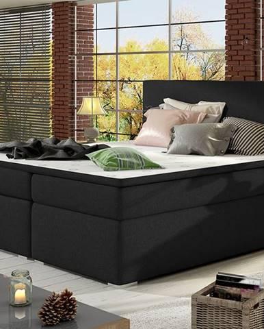 Diana 160 čalúnená manželská posteľ s úložným priestorom čierna (Sawana 14)