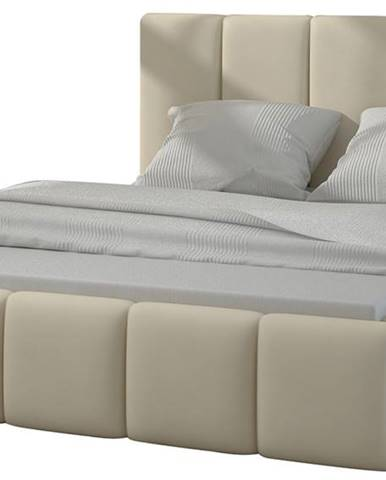 Evora 140 čalúnená manželská posteľ béžová