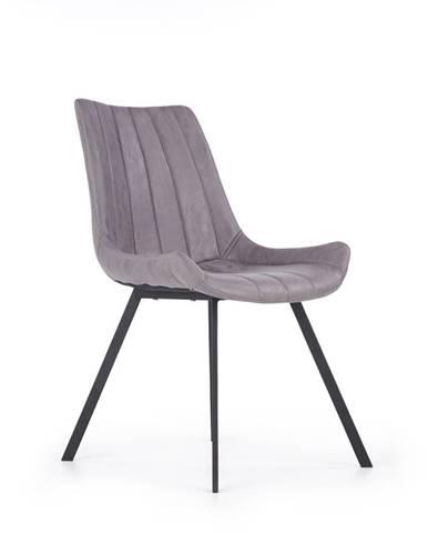K279 jedálenská stolička sivá