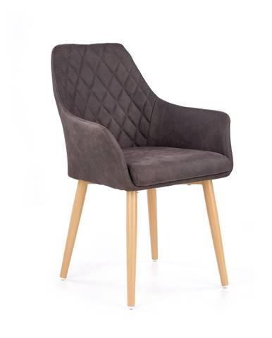 K287 jedálenská stolička tmavohnedá