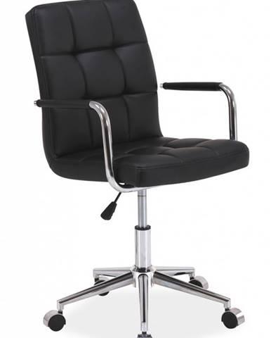 Q-022 kancelárska stolička čierna