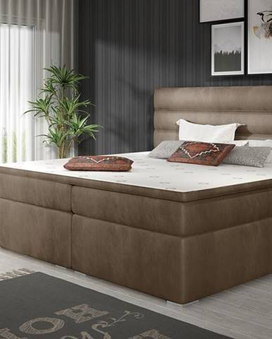 Spezia 180 čalúnená manželská posteľ s úložným priestorom hnedá