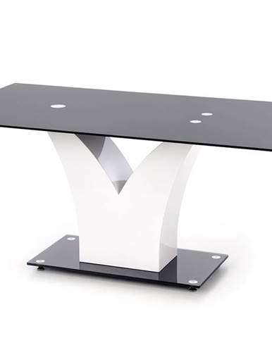 Vesper sklenený jedálenský stôl čierna