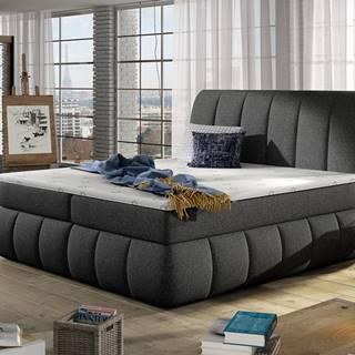 Vareso 140 čalúnená manželská posteľ s úložným priestorom sivá (Inari 91)