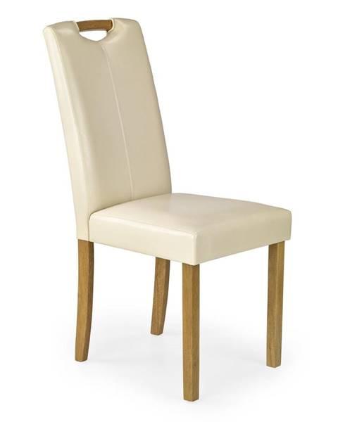 Halmar Caro jedálenská stolička krémová