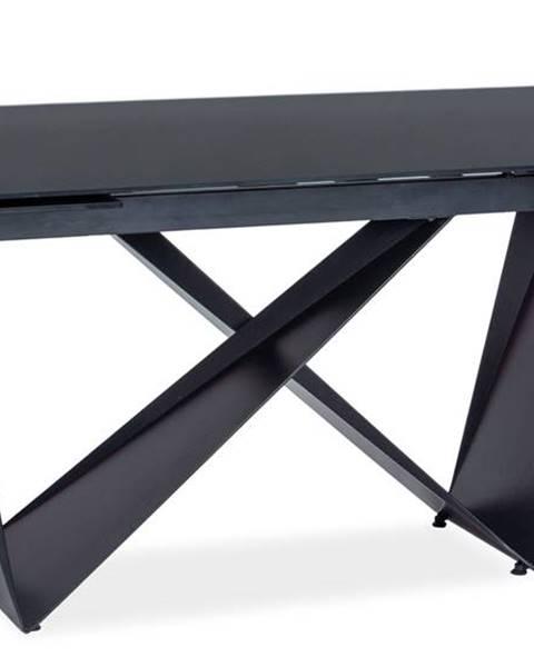 Signal Cavalli I rozkladací jedálenský stôl čierna matná