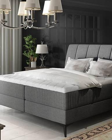 Altama 140 čalúnená manželská posteľ s úložným priestorom sivá (Sawana 05)