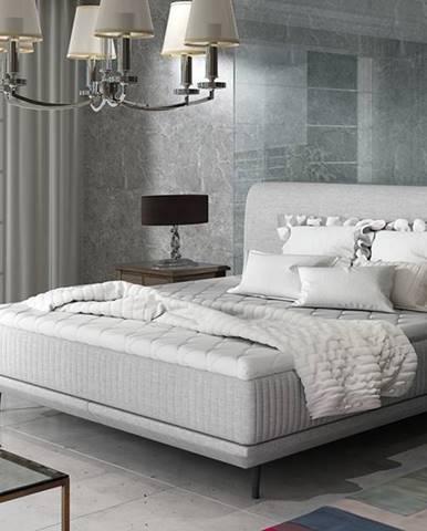 Ancona 140 čalúnená manželská posteľ svetlosivá (Sawana 21)