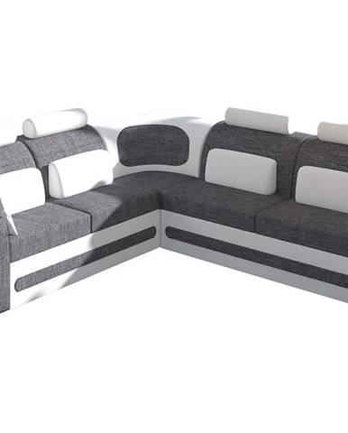 Bolzano L rohová sedačka s rozkladom a úložným priestorom sivá (Sawana 05)