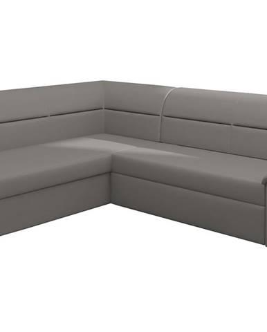 Estrela L rohová sedačka s rozkladom a úložným priestorom sivá (Soft 29)